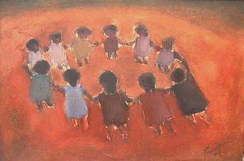 PANCETTI, José - 1902 - 1958 Ciranda óleo s/ papel, 1942 - 23,4 x 32,5 cm
