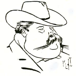 Emílio de Menezes - Caricatura de K. Lixto