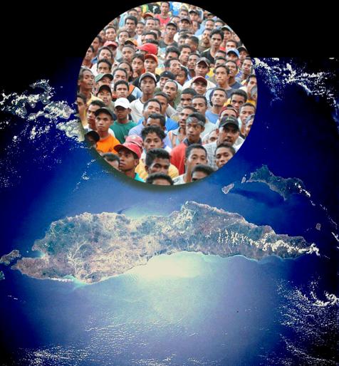 Timor Leste ocupa apenas metade da área total da ilha, a parte oriental, além de um enclave na metade oeste, que é ainda dominada pela Indonésia