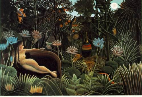Henri Rousseau (1844-1910) – O Sonho (1910) – óleo sobre tela - 204 × 298 cm – Museu de Arte Moderna, Nova Iorque
