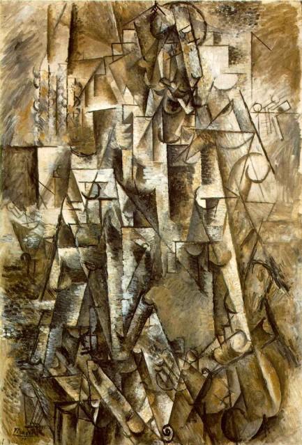 Pablo Picasso - O Poeta - 1911 - óleo sobre tela - 131,2 x 89,5 cm - Museu Peggy Guggenheim, Veneza, Itália