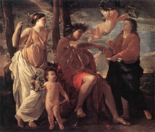 Nicolas Poussin (1594-1665) S Inspiração do Poeta - Óleo s/ tela, - C.1630 - 182.5 x 213 cm - Museu do Louvre, Paris