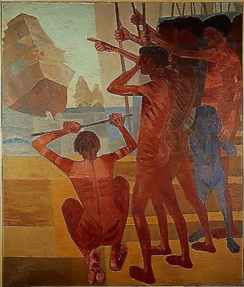Cândido Portinari - Descobrimento do Brasil - Óleo sobre tela - 199 x 169cm - Acervo do Banco Central do Brasil