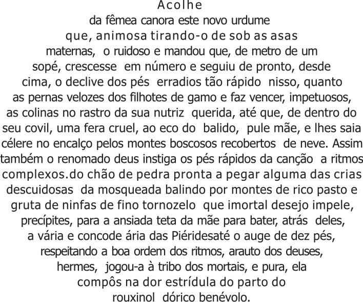banco de jardim poesia:Ovo , de Símias de Rodes , versão de José Paulo Paes