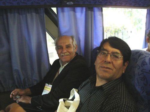 Manoel de Andrade com o escritor peruano Enrique Rosas Paravicino